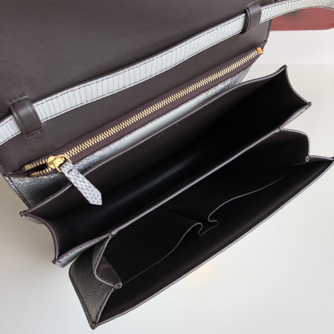 全新升级classic box 蜥蜴皮金扣 搭配羊皮内里 完美复古包 24cm