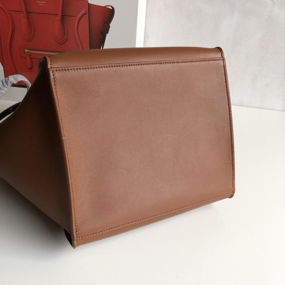 Big bag 平纹 小牛皮 24*22*26cm 栗子色 原厂进口五金