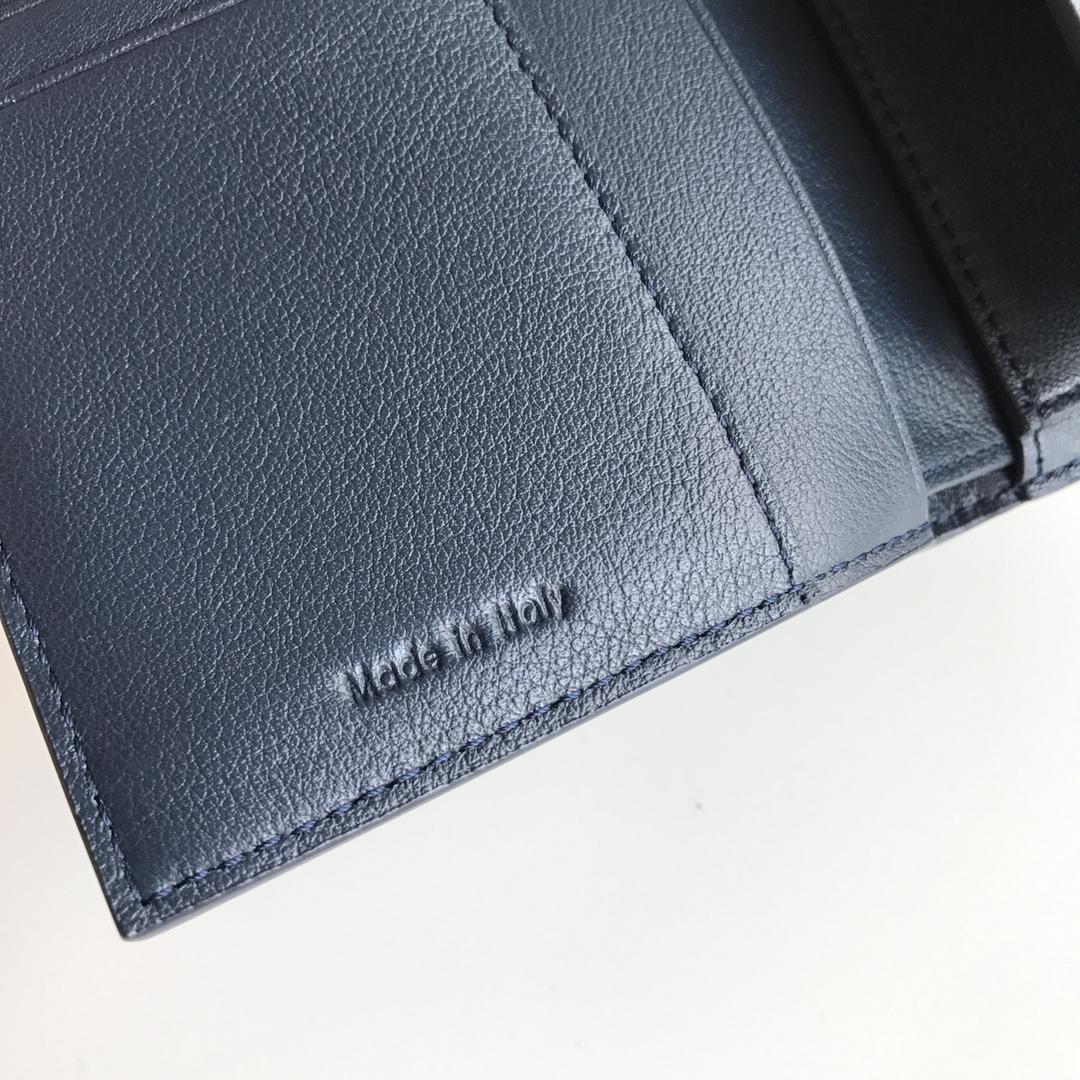CELINE 16厘米 黑色拼深蓝色 手拿钱包 原厂定制五金