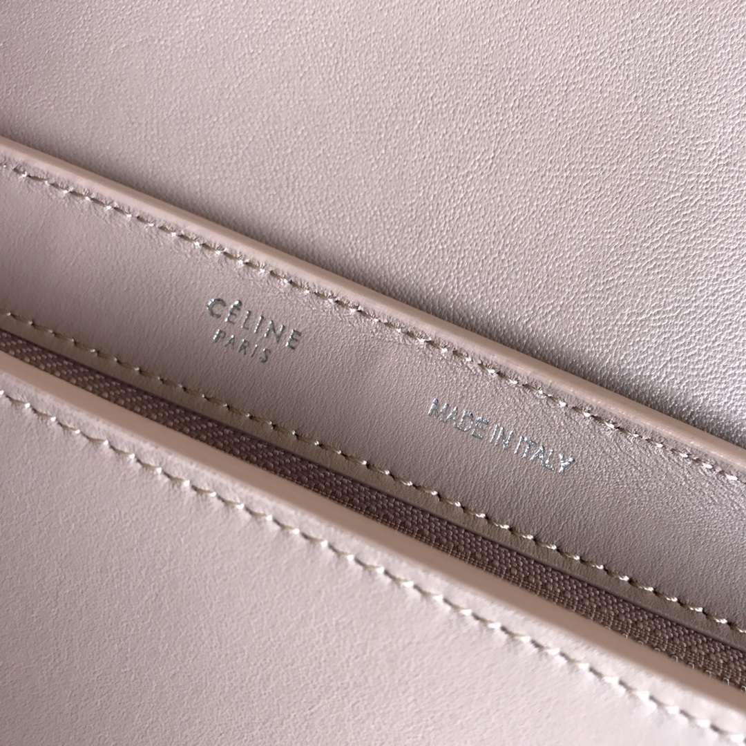 秋千包 海外原单 TRAPEZE拼色 银扣 26cm 锡器灰拼唇膏粉拼杏粉色