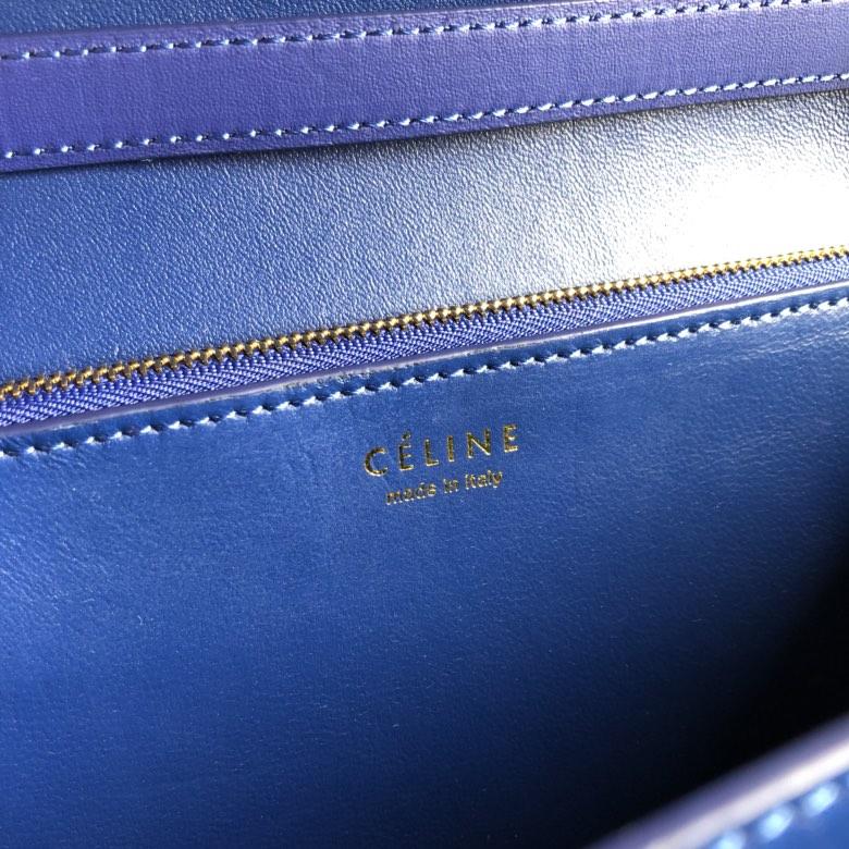 全新升级classic box 珍珠鱼皮金扣 搭配羊皮内里 完美复古包 精致媲美专柜 17cm 电光蓝