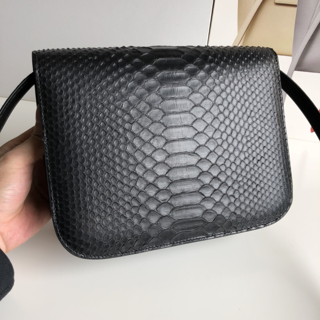 CELINE官网 classic box 24cm 真蛇皮 金扣