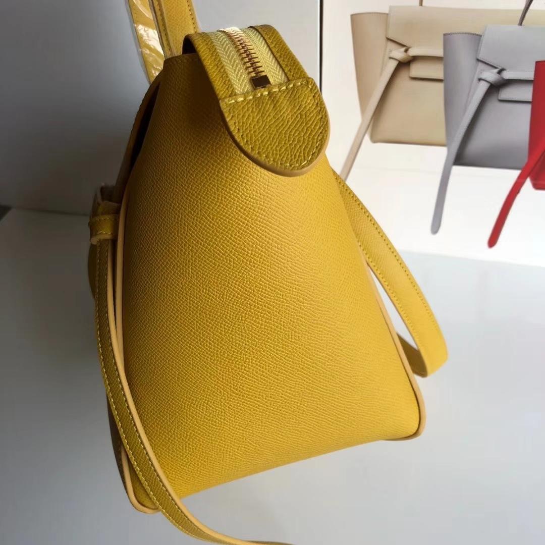 CELINE包包官网 鲶鱼包 黄色手掌纹 女王手袋 BELT 27cm