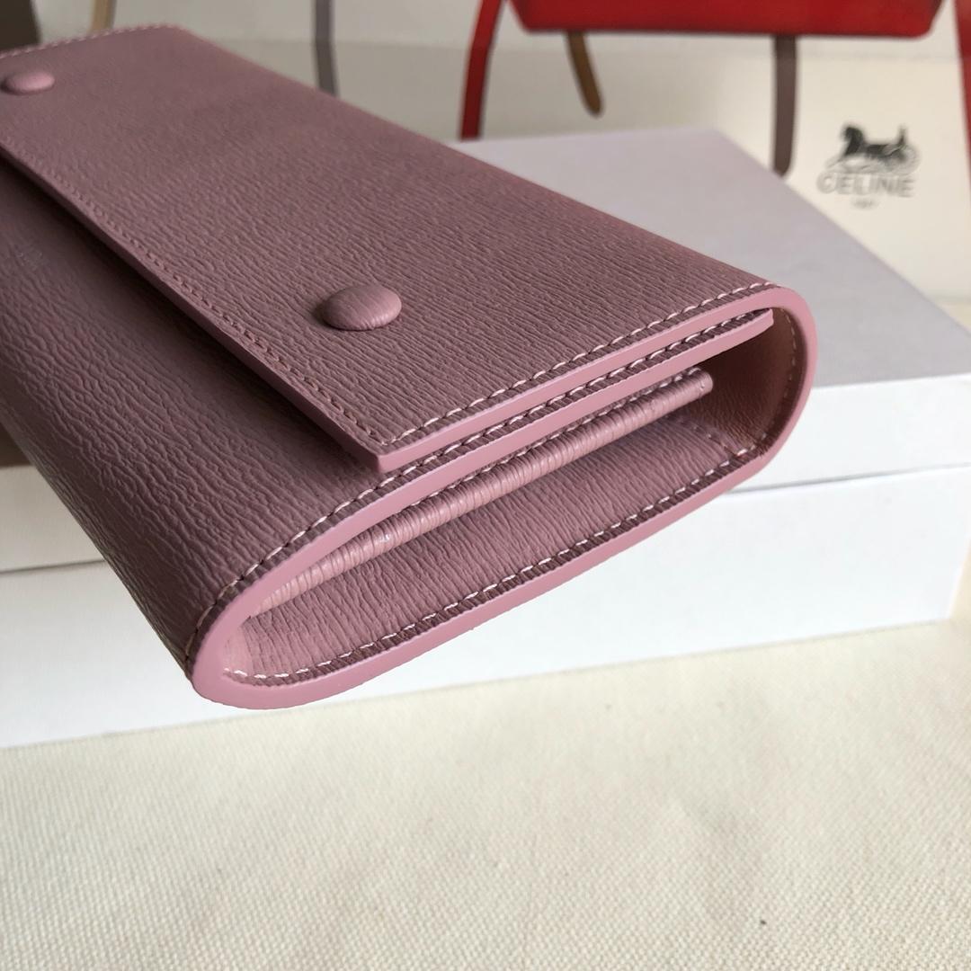 CELINE 0172粉红水波纹/粉色 19cm 长款钱包 卡包