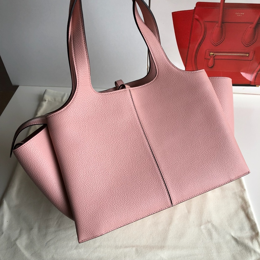 CELINE包包官网 32厘米 粉色 荔枝纹 妈咪包 超级大容量