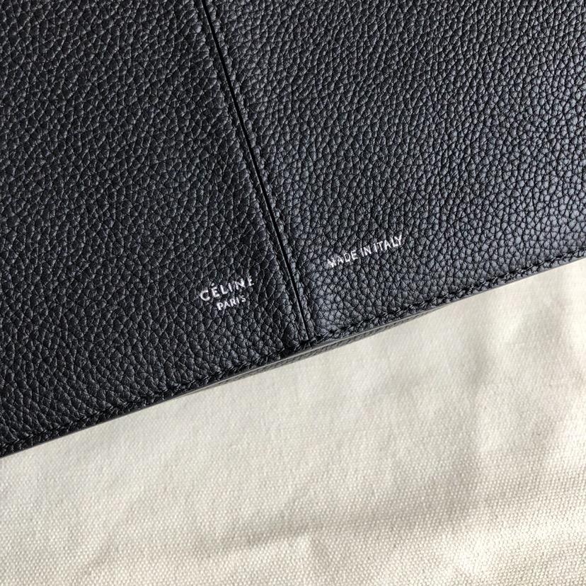 CELINE包包官网 32厘米 黑色 荔枝纹 妈咪包 超级大容量