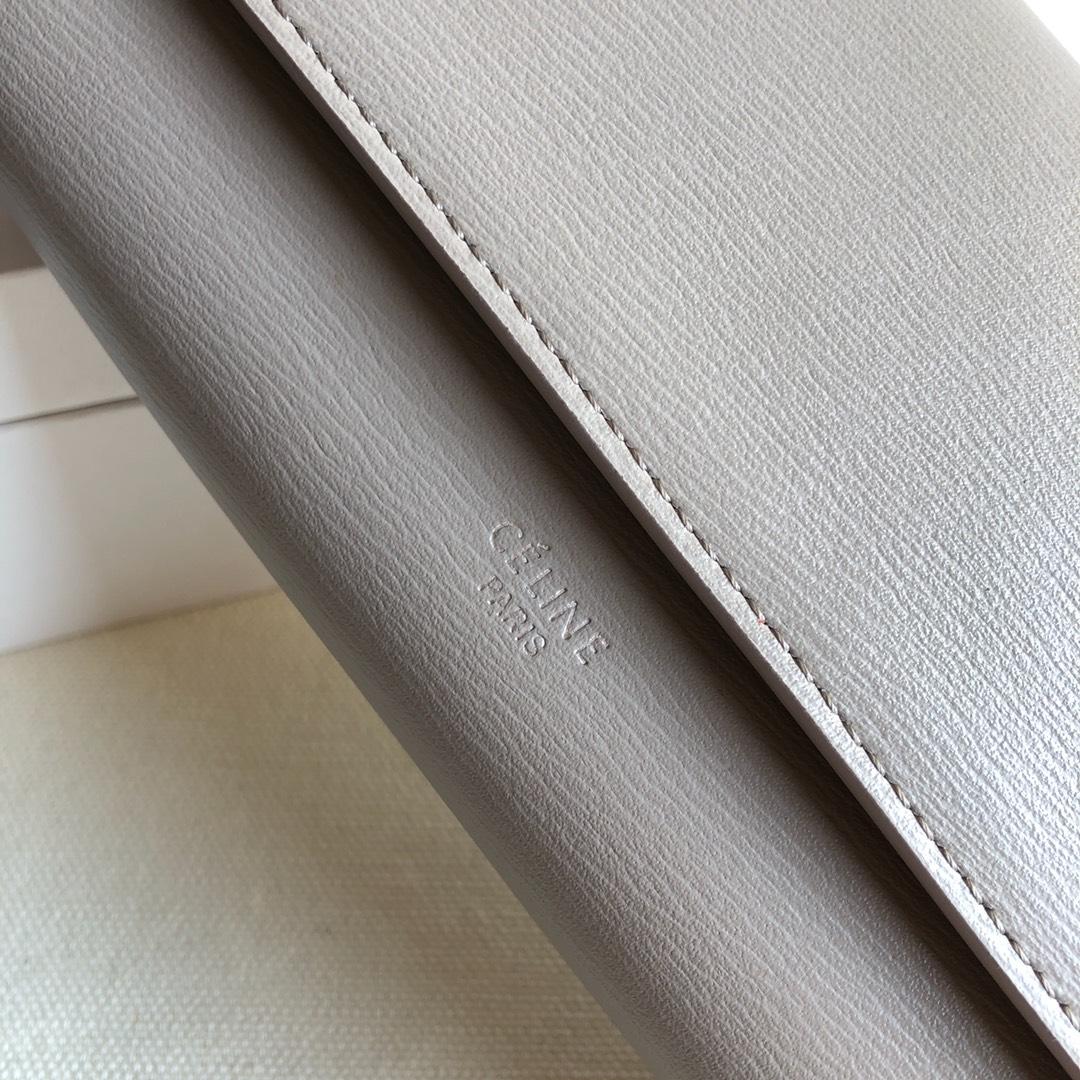CELINE 0172 灰色 水波纹 19cm 长款钱包 卡包
