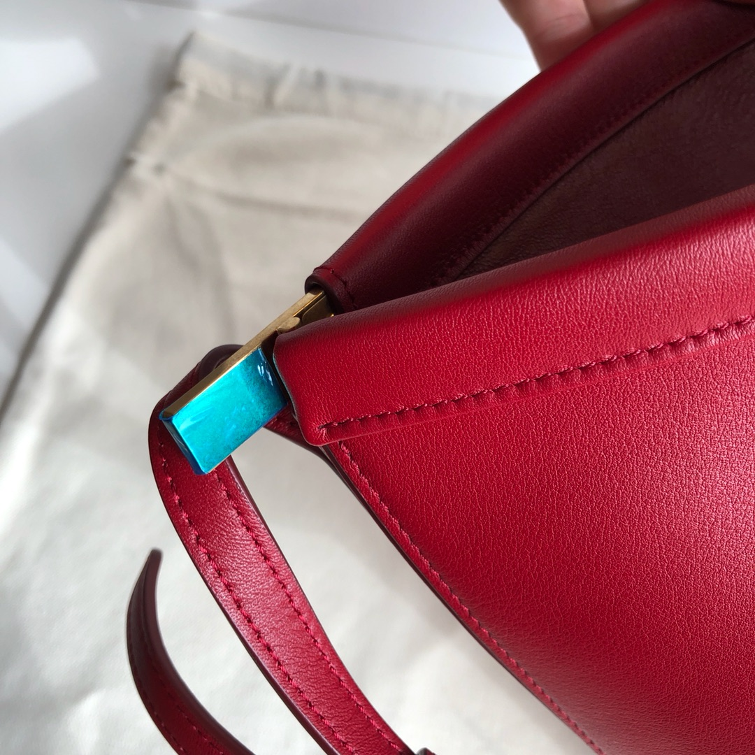 Celine家桶包 底部20cm 红色