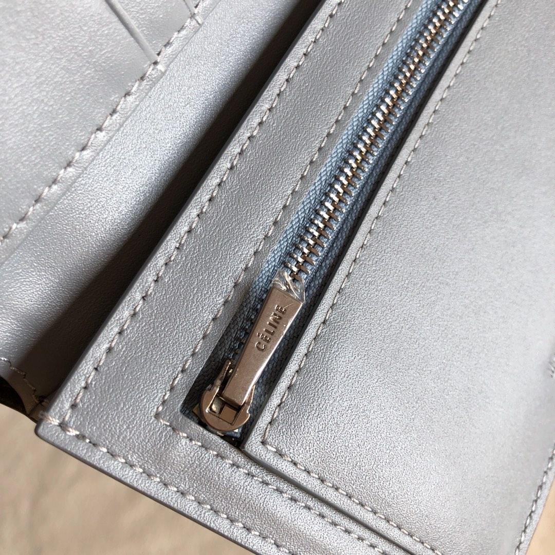 CELINE 钱夹深灰手掌纹/浅蓝色 14cm 卡包 钱包