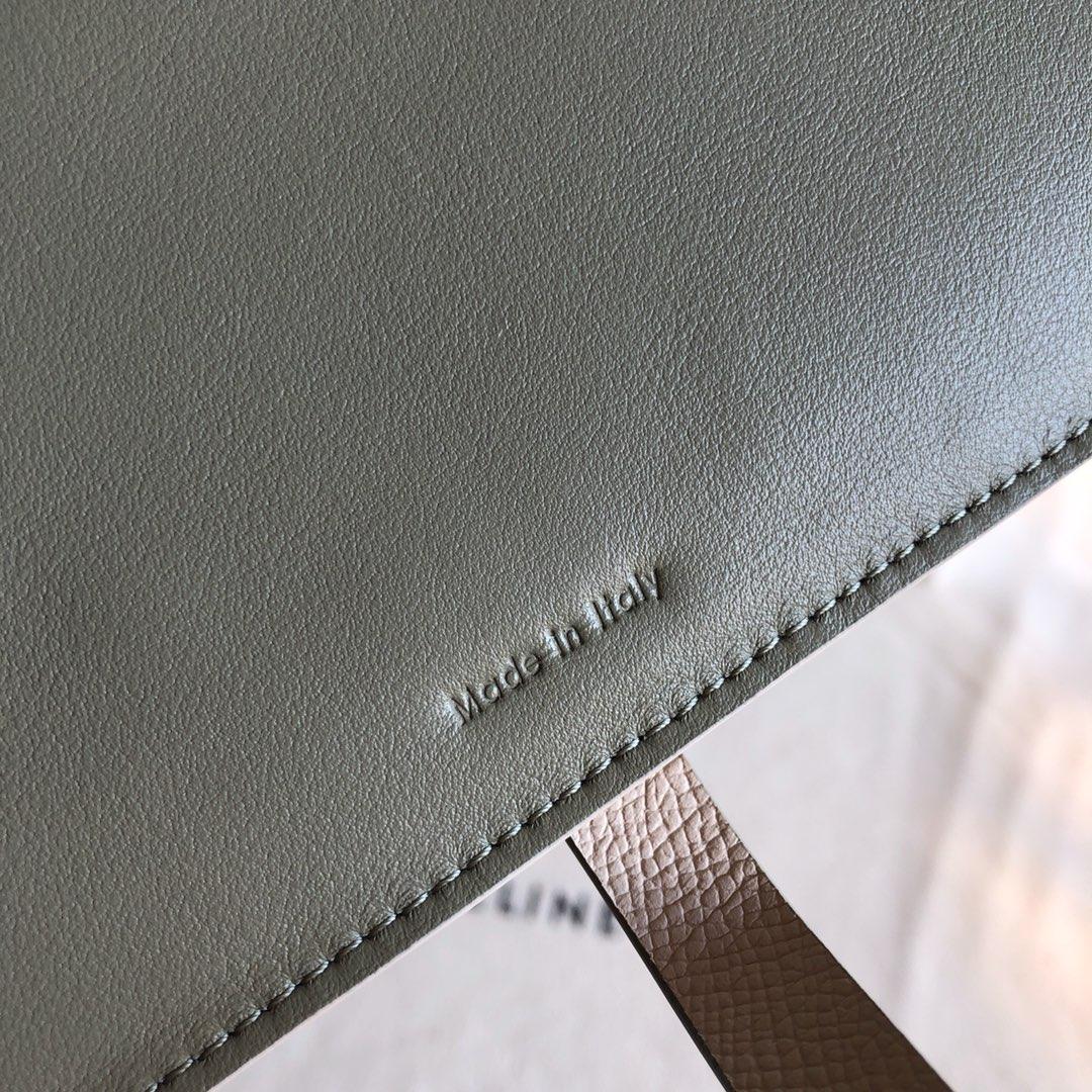 CELINE 钱夹 米杏手掌纹/浅绿色 19cm 卡包 机票夹