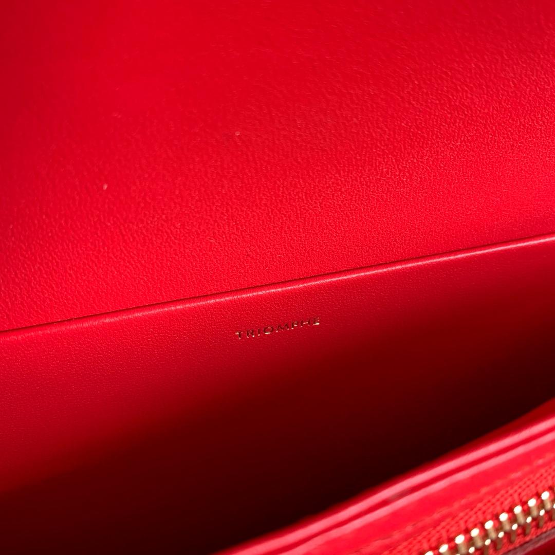 CELINE 全新box 金扣搭配羊皮内里完美复古包平整的水油边精致媲美专柜 20cm