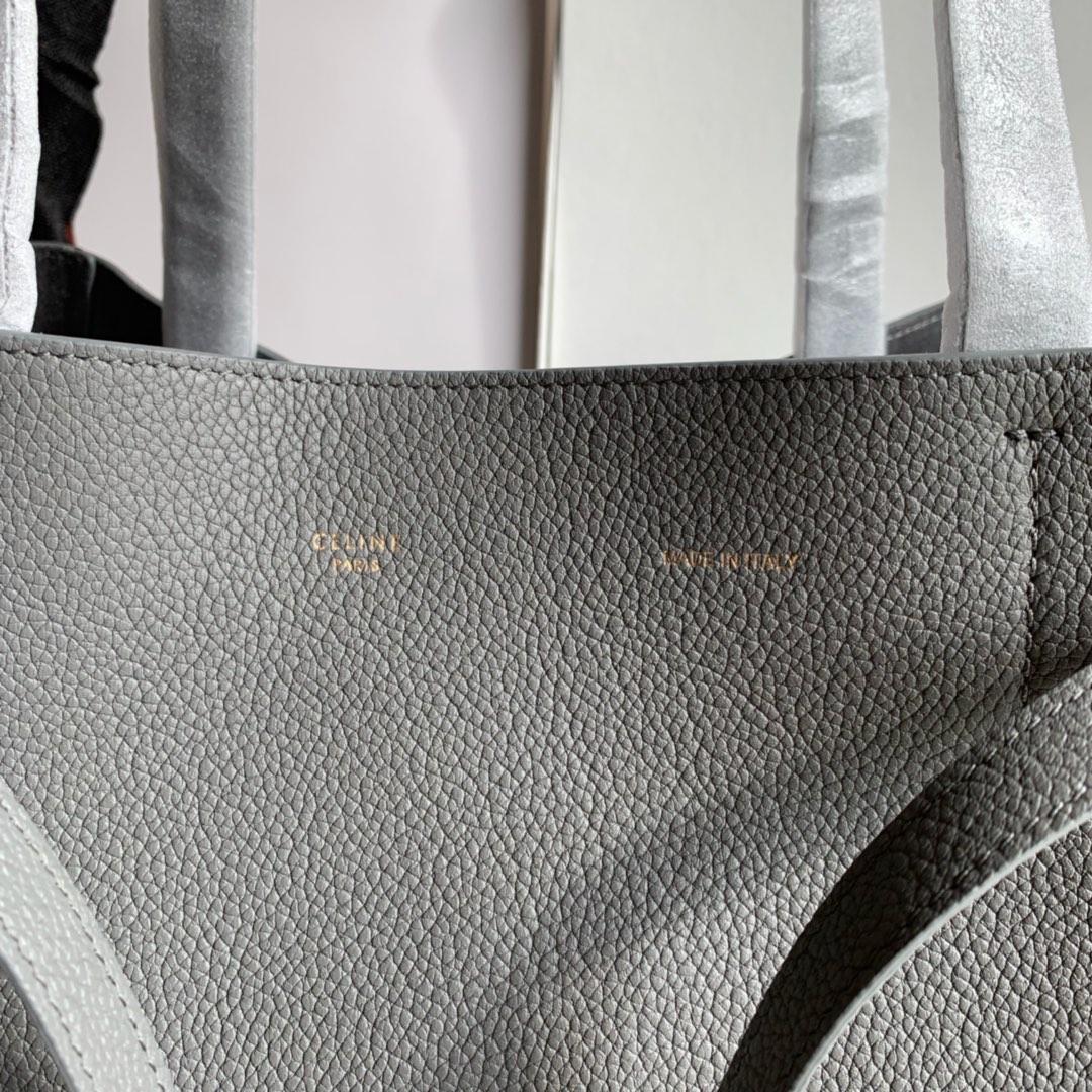 CABAS PHANTOM27x31x17厘米金色金属 炭灰色荔枝纹内里磨砂牛皮189023