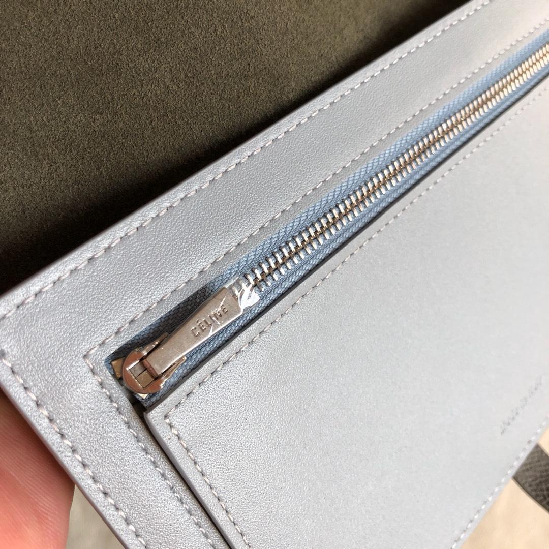 CELINE 钱夹深灰手掌纹/浅蓝色 19cm 卡包 钱包
