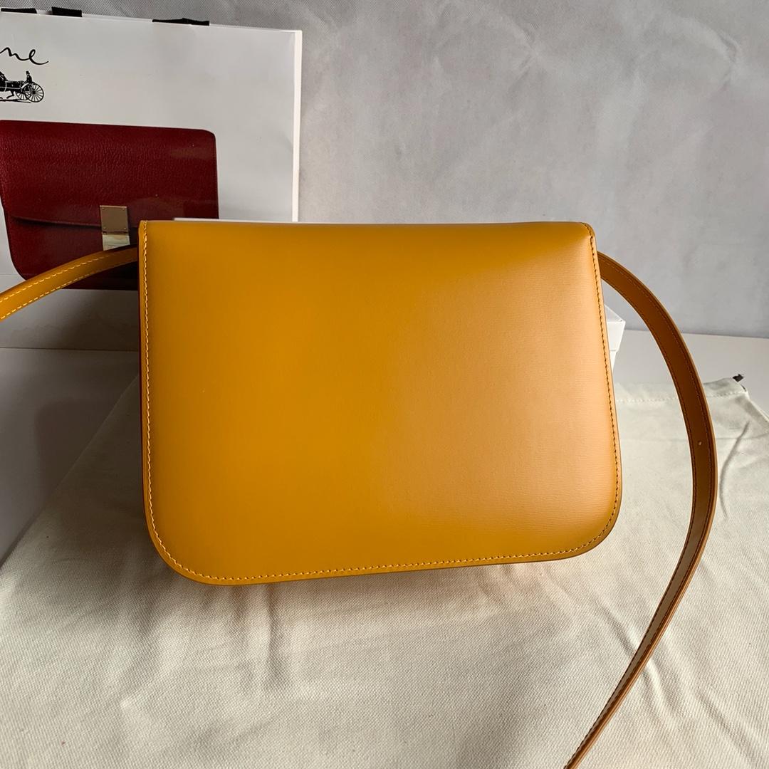 CELINE包包 Classic Box  24厘米 黄色手搓纹 最新升级版 全新包装