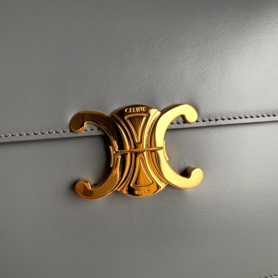 全新box 凯旋门扣 金扣 搭配羊皮内里 完美复古包 平整的水油边 精致媲美专柜 25cm