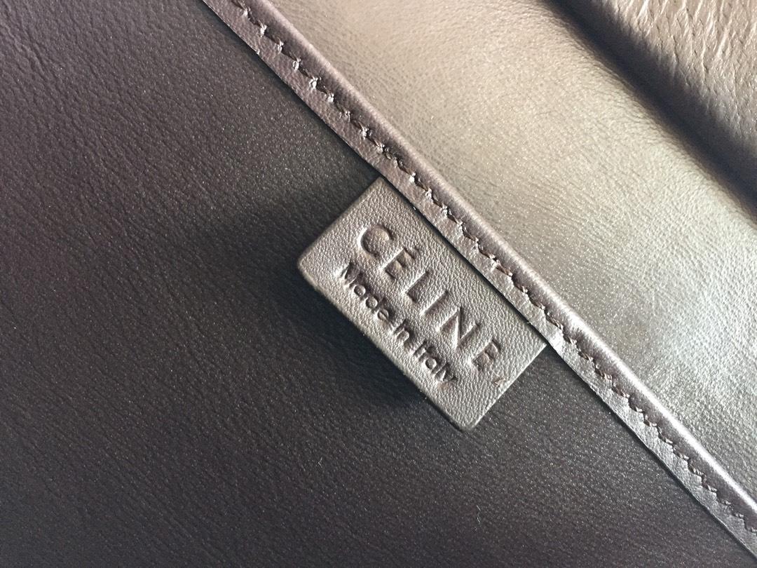 新色笑脸包 海外原单MICROLUGGAGE牛皮手袋 20cm 银色五金