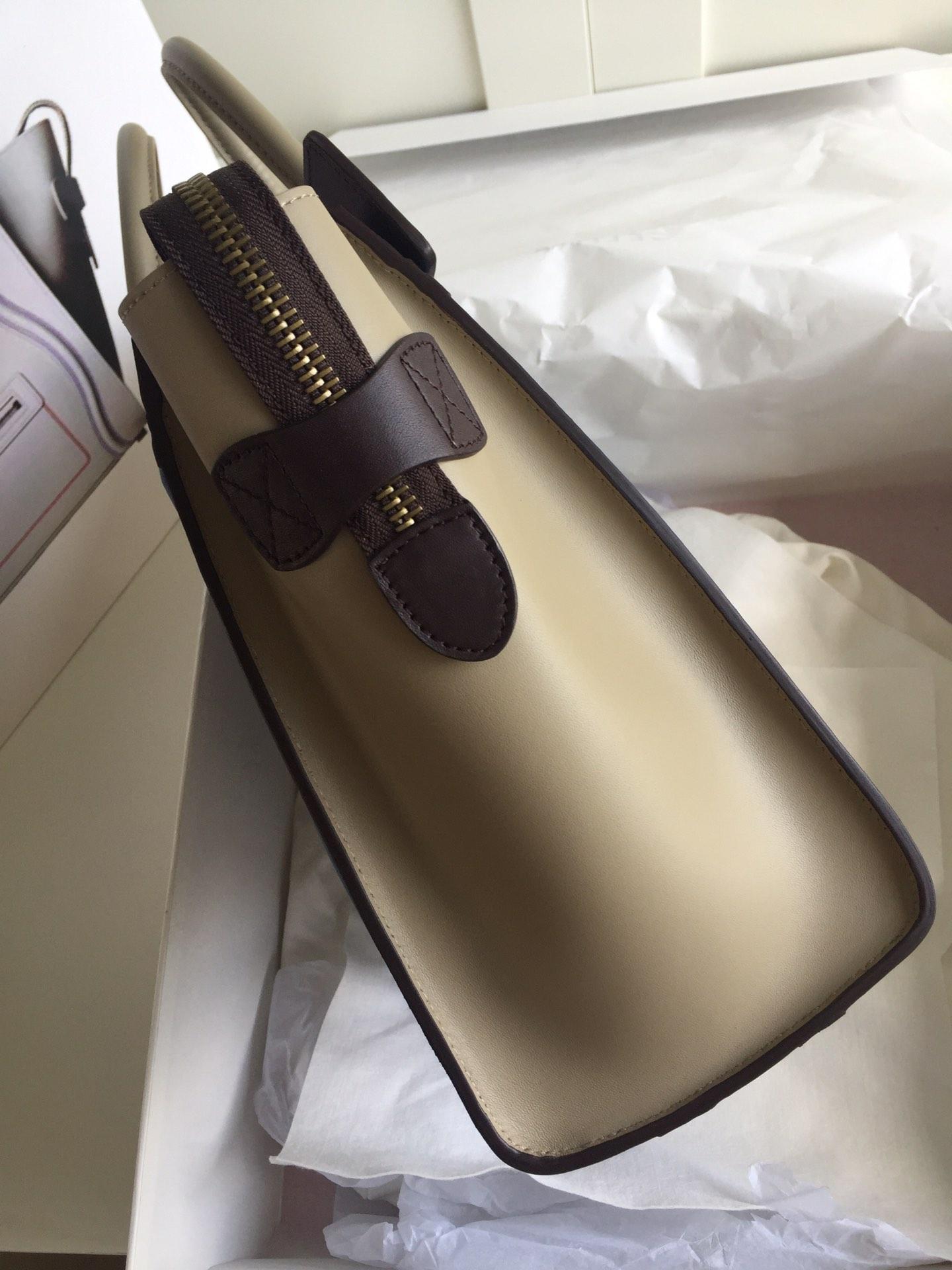新色笑脸包 海外原单MICROLUGGAGE牛皮手袋 银色五金 26cm