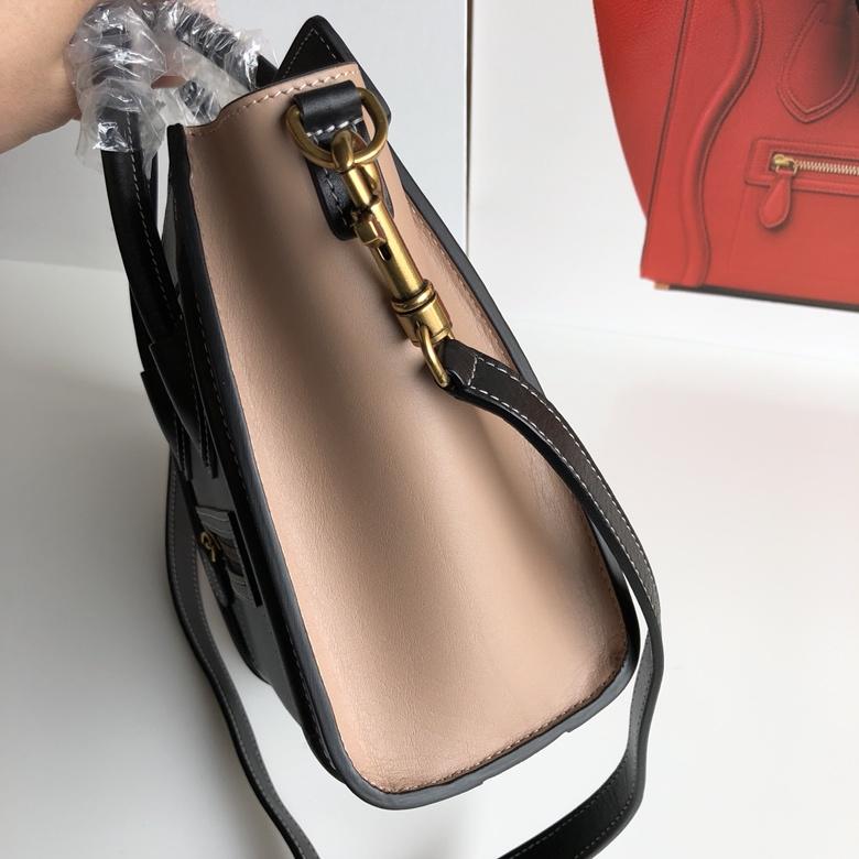 CELINE包包 新色笑脸包 海外原单 LUGGAGE牛皮手袋 20cm