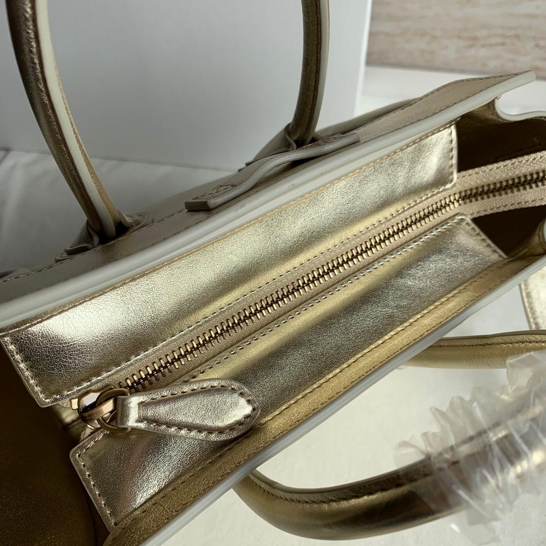 CELINE包包 金色平纹 LUGGAGE NANO 20 X 20 X 10 厘米 100%小牛皮