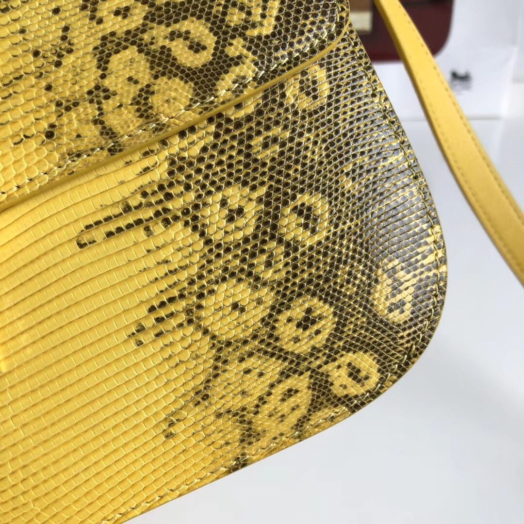 全新升级classic box 蜥蜴皮金扣 搭配羊皮内里 完美复古包 平整的水油边 精致媲美专柜 24cm