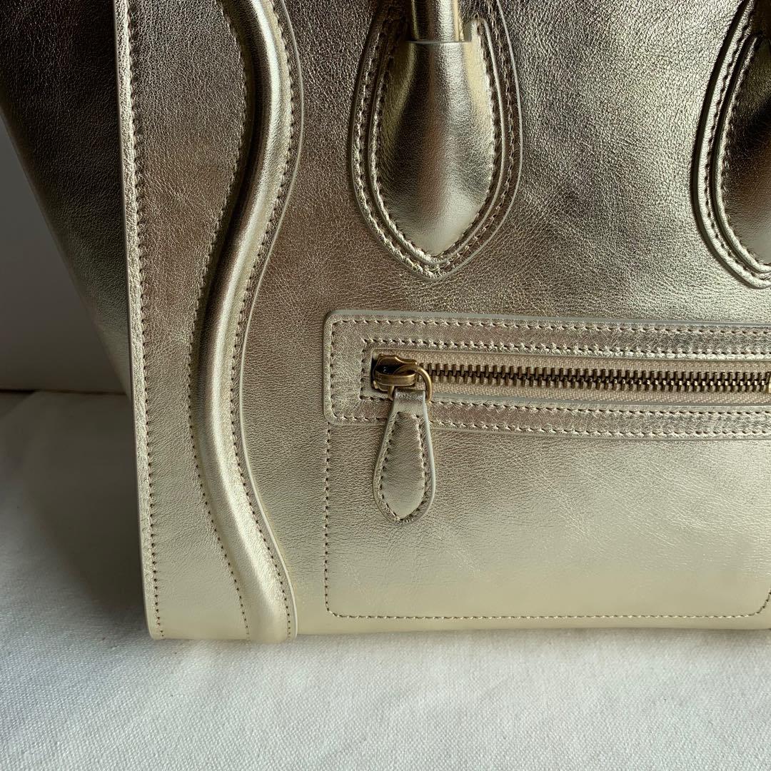 CELINE包包 金色平纹 100%小牛皮 27 X 27 X 15厘米 手提