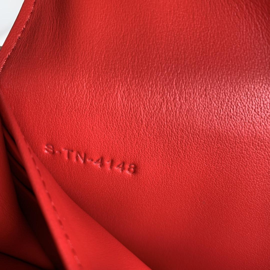 CELINE新款 4148 大红色手掌纹 19cm 长款钱包 卡包