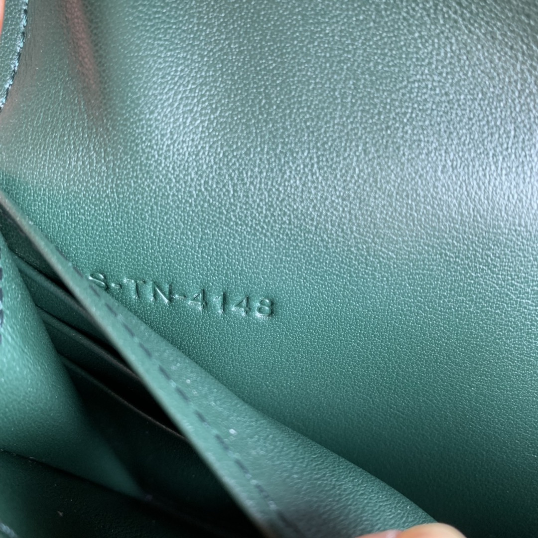 CELINE新款 4148 墨绿色手掌纹 19cm 长款钱包 卡包