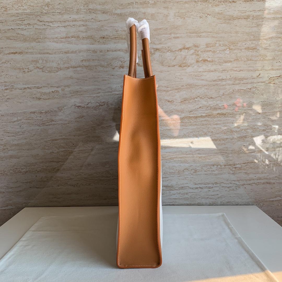 CABAS CELINE 竖款CELINE印花帆布和小牛皮手袋 37 X 39.5 X 9厘米