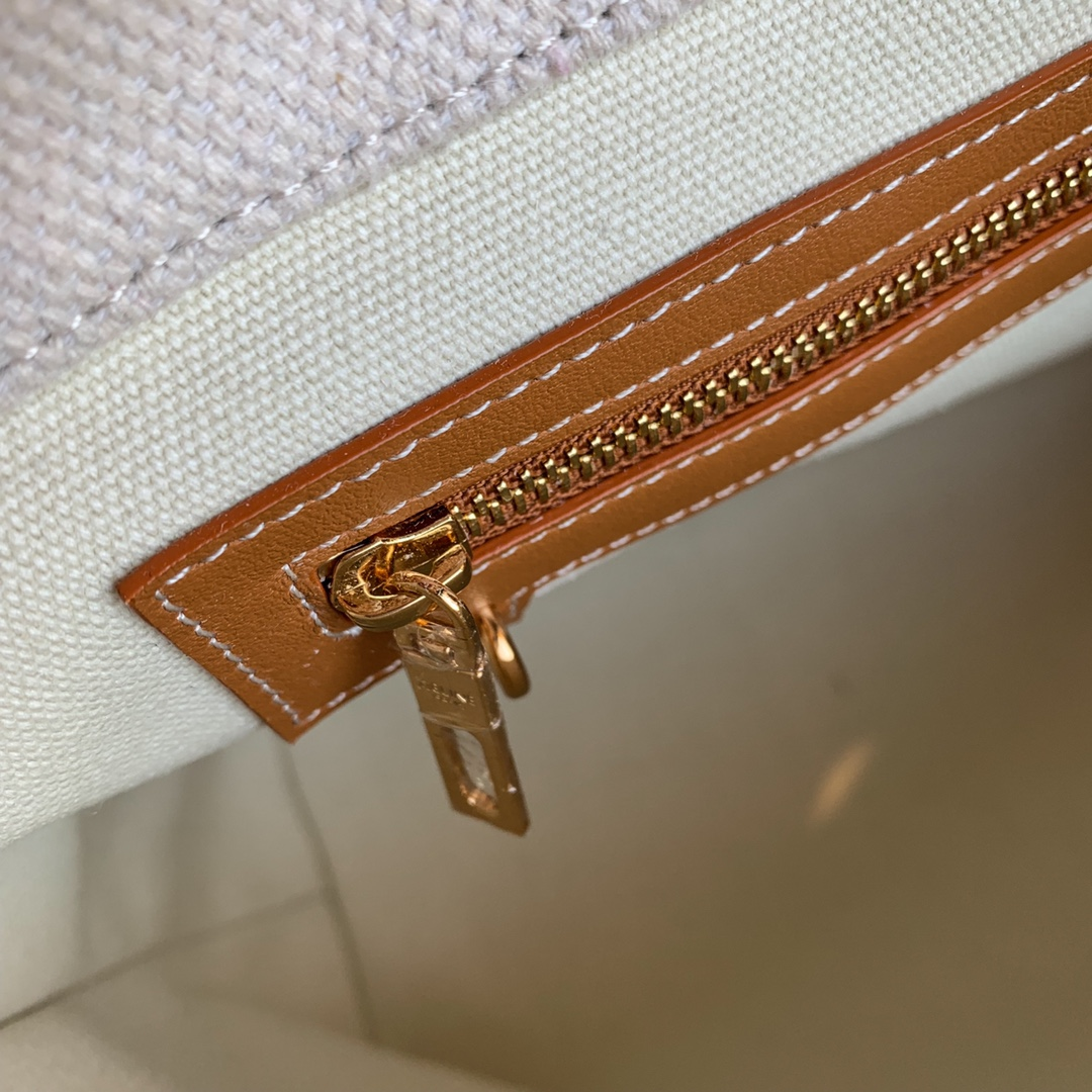 CABAS CELINE 横款CELINE印花帆布和小牛皮手袋 44 X 32 X 16厘米