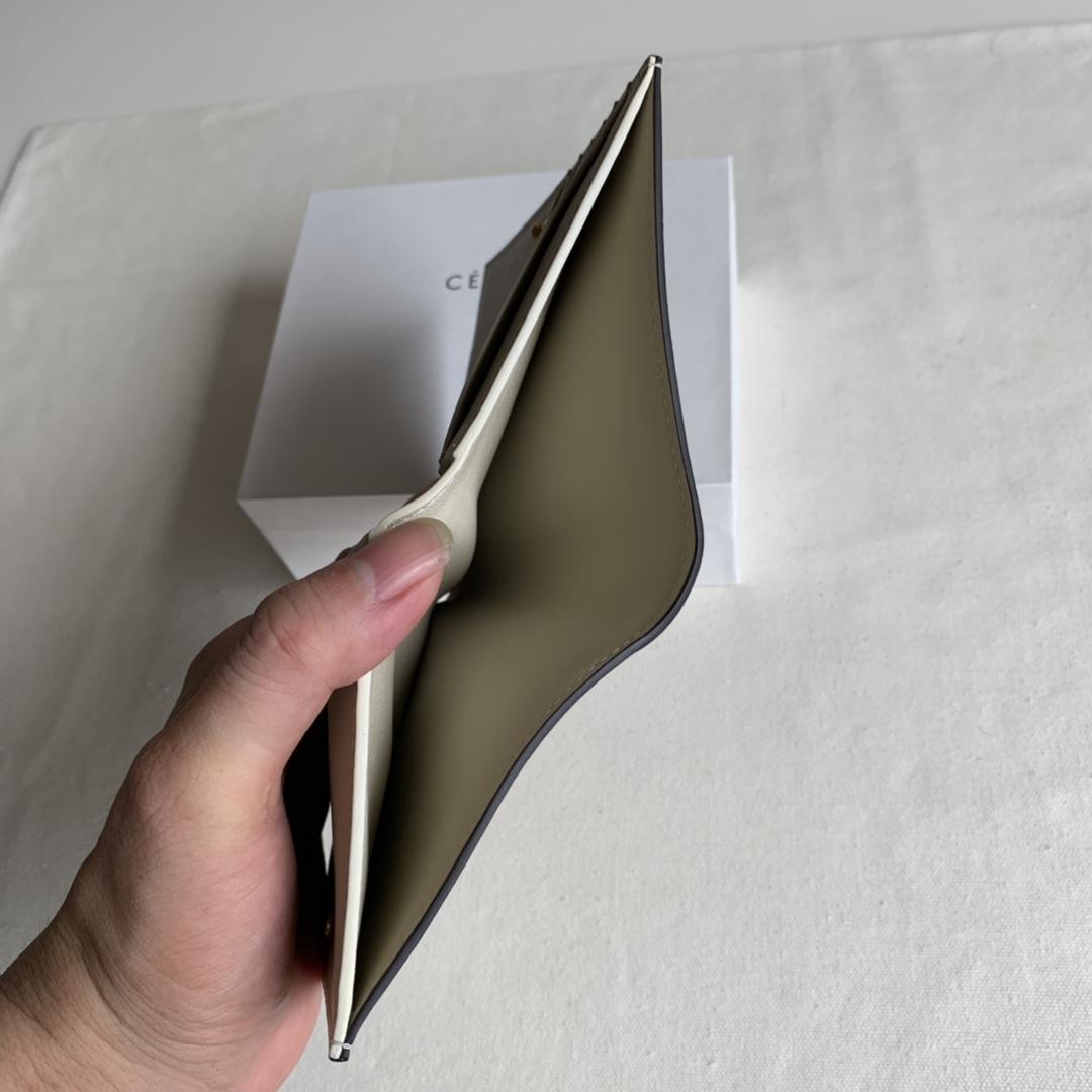 2148 中绿/米白 短夹 钱包