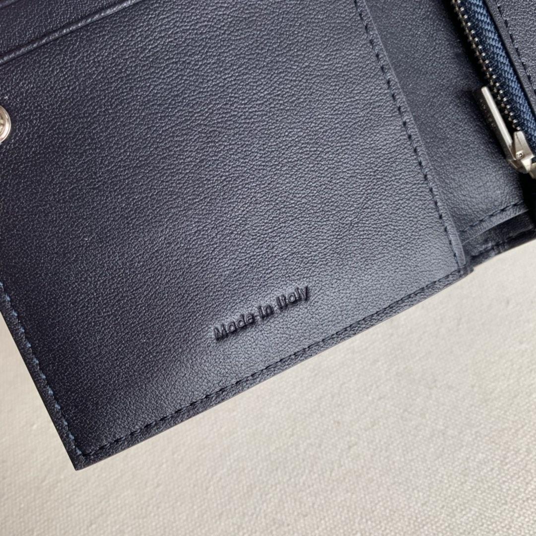 2148 海军蓝/酒红 短夹 钱包