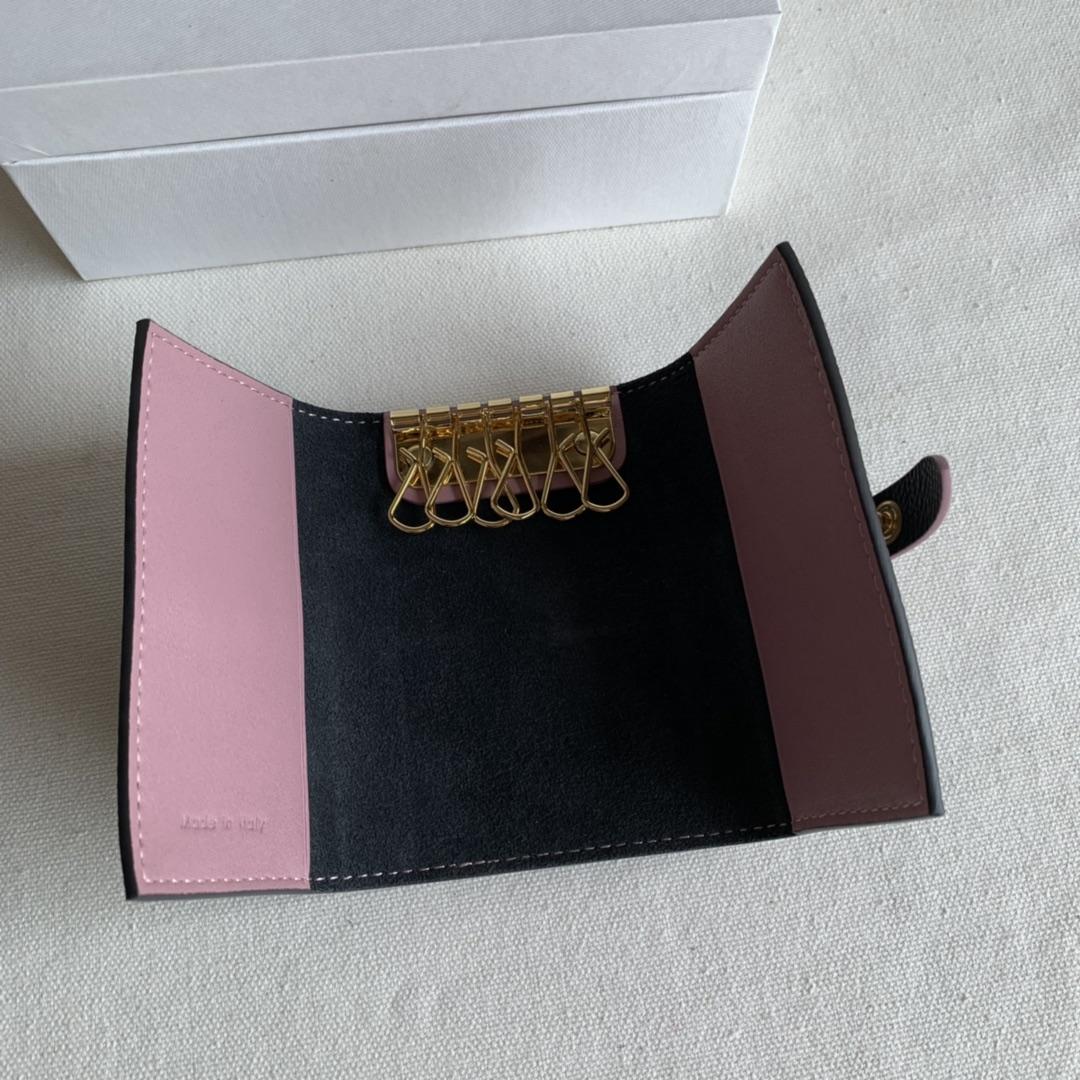 CELINE锁匙包 黑色掌纹/粉色