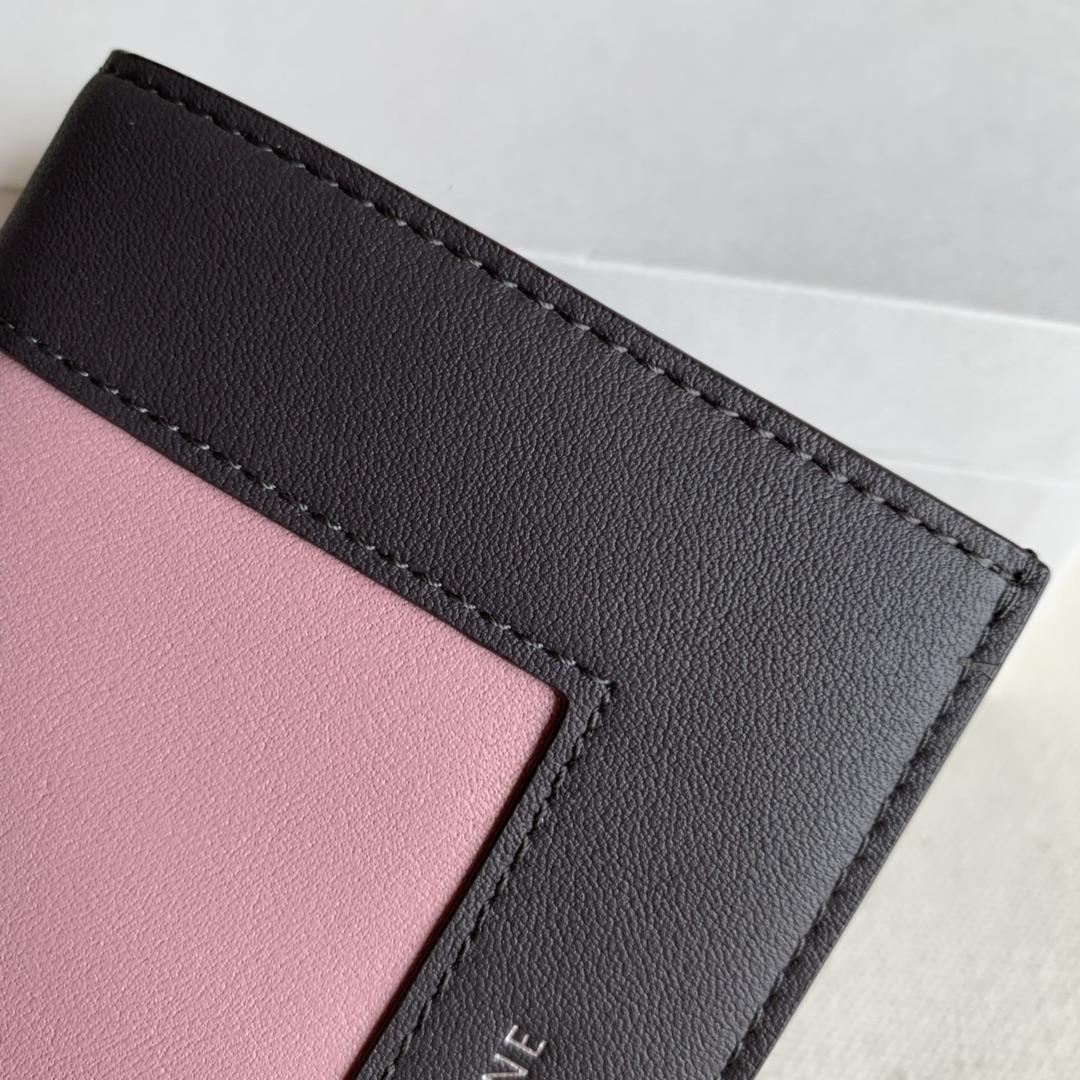 2148 甘草棕/粉色 短夹 钱包