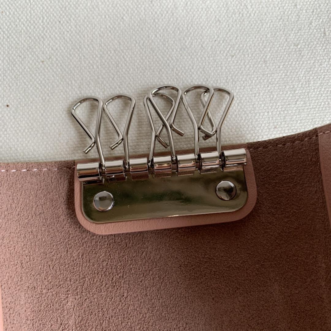 CELINE锁匙包 浅杏色掌纹/粉色